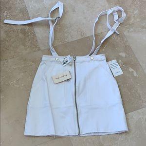 White skirt overalls